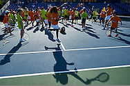 Pamela Howard Shriver an American former professional tennis (won a women's doubles gold medal at the 1988 Olympic Games in Seoul) in action while Unified Tennis Experience during sixth day of the Special Olympics World Games Los Angeles 2015 on July 30, 2015 at Tennis Centre on UCLA (University of California Los Angeles) in Los Angeles, USA.<br /> <br /> USA, Los Angeles, July 30, 2015<br /> <br /> Picture also available in RAW (NEF) or TIFF format on special request.<br /> <br /> For editorial use only. Any commercial or promotional use requires permission.<br /> <br /> Adam Nurkiewicz declares that he has no rights to the image of people at the photographs of his authorship.<br /> <br /> Mandatory credit:<br /> Photo by © Adam Nurkiewicz / Mediasport