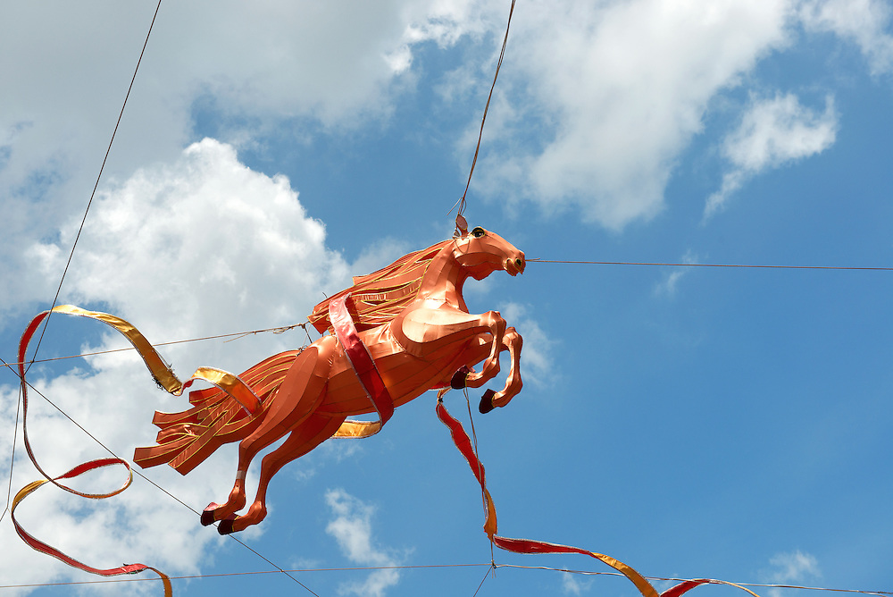 Year of Horse Decoration in Chinatown of Singapore