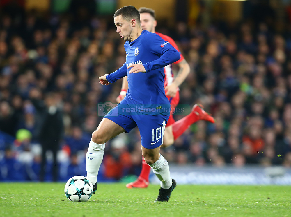 December 5, 2017 - London, England, United Kingdom - Chelsea's Eden Hazard..during the Champions  League Group C  match between Chelsea and Atlético Madrid at Stamford Bridge, London, England on 5 Dec   2017. (Credit Image: © Kieran Galvin/NurPhoto via ZUMA Press)