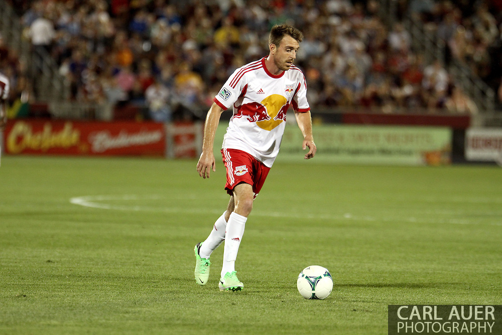 July 4th, 2013 - New York Red Bulls midfielder Eric Alexander (12) controls the ball in the second half of the Major League Soccer match between New York Red Bulls and the Colorado Rapids at Dick's Sporting Goods Park in Commerce City, CO