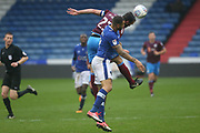 Rory McArdle (captain) Scunthorpe Defender during the EFL Sky Bet League 1 match between Oldham Athletic and Scunthorpe United at Boundary Park, Oldham, England on 28 October 2017. Photo by George Franks.
