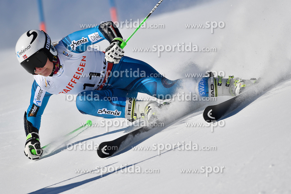 16.02.2017, St. Moritz, SUI, FIS Weltmeisterschaften Ski Alpin, St. Moritz 2017, Riesenslalom, Damen, 1. Lauf, im Bild Ragnhild Mowinckel (NOR) // Ragnhild Mowinckel of Norway in action during her 1st run of ladie's Giant Slalom of the FIS Ski World Championships 2017. St. Moritz, Switzerland on 2017/02/16. EXPA Pictures &copy; 2017, PhotoCredit: EXPA/ Sammy Minkoff<br /> <br /> *****ATTENTION - OUT of GER*****