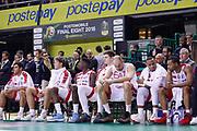 Delusione panchina Armani Milano, EA7 Emporio Armani Olimpia Milano vs Red October Cantù, Poste Mobile Final 8 2018 Quarti di Finale, Lega Basket 2017/2018 Firenze 16 febbraio 2018 Nelson Mandela Forum