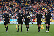 19-05-2016 VOETBAL:NAC BREDA - WILLEM II:BREDA <br /> De KNVB stuurde een zware delegatie naar de finale met scheidrechter Higler. Langs de lijn hanteren de heren De Vries en Janson de vlaggenstok, terwijl Goossens, Wiedemeijer en van de Graaf als assistenten fungeerden<br /> <br /> Foto: Geert van Erven