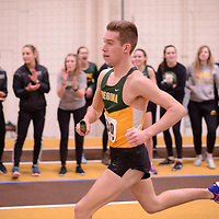 Alexander McBride in action during the 2018 Canada West Track & Field Championship on February  23 at James Daly Fieldhouse. Credit: Arthur Ward/Arthur Images