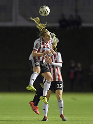 February 20, 2019 - Sheffield, United Kingdom - Alethea Paul (Sheffield United) gets to the ball first after a goal kick during the  FA Women's Championship football match between Sheffield United Women and Manchester United Women at the Olympic Legacy Stadium, on February 20th Sheffield, England. (Credit Image: © Action Foto Sport/NurPhoto via ZUMA Press)