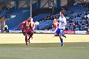 Bradford City Midfielder, Kyel Reid on the ball during the Sky Bet League 1 match between Bury and Bradford City at the JD Stadium, Bury, England on 5 March 2016. Photo by Mark Pollitt.
