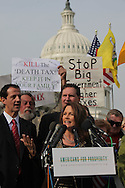 Michele Bachmann  speaks at a Capitol Hill rally asking Senators to respect the will of the people in the Lame Duck Session sponsored by Americans for Prosperity on Novembee 15, 2010.  Photograph by Dennis Brack