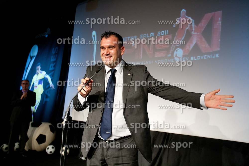 Dejan Stefanovic, president of SPINS during the Slovenian men's football player of the year 2011 award at the SPINS XI  Nogometna Gala, on November 24, 2011 in Hotel Mons, Ljubljana, Slovenia. (Photo By Vid Ponikvar / Sportida.com)