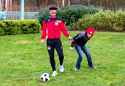 Bobby Reid of Bristol City plays football with children during Bristol City's visit to the Children's Hospice South West at Charlton Farm - Mandatory by-line: Robbie Stephenson/JMP - 21/12/2016 - FOOTBALL - Children's Hospice South West - Bristol , England - Bristol City Children's Hospice Visit
