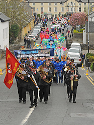 Westport Town band leading the Westport 250 parade on sunday.<br /> Pic Conor McKeown