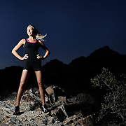 Model Samantha Kozuch at the Phoenix Mountain Preserve, Piewesta Mountain Trail.