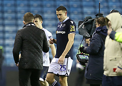Millwall's Murray Wallace after scoring the winning goal of the match at full time