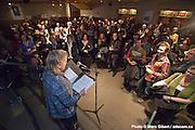 Louise Lapointe, directrice générale de Casteliers, lance le 7e festival international LES TROIS JOURS DE CASTELIERS, la création actuelle en théâtre de marionnettes. /  Théâtre d'Outremont  / Montreal / Canada / 2012-03-08, © Photo Marc Gibert / adecom.ca