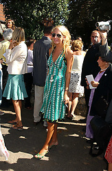 The HON.SOPHIA HESKETH at the wedding of musician Jools Holland to Lady Crystabel Durham held at Cooling Village Church, Cooling, Kent on 30th August 2005.<br />