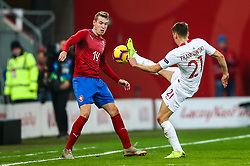 November 15, 2018 - Gdansk, Poland - Przemyslaw Frankowski of Poland vies Jakub Jankto of Czech Republic during the international friendly soccer match between Poland and Czech Republic at Energa Stadium in Gdansk, Poland on 15 November 2018. (Credit Image: © Foto Olimpik/NurPhoto via ZUMA Press)