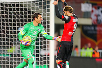 Remy VERCOUTRE / Ola Toivonen  - 25.01.2015 - Rennes / Caen  - 22eme journee de Ligue1<br /> Photo : Vincent Michel / Icon Sport *** Local Caption ***
