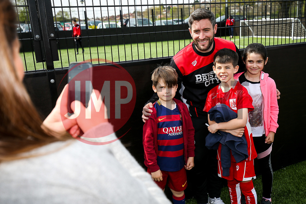BCCT Easter Fun Football Camp (attended by Bristol City Manager Lee Johnson, assistants Dean Holden and Jamie McAllister, as well as players Mark Little, Callum O'Dowda and Josh Brownhill) - Rogan Thomson/JMP - 11/04/2017 - FOOTBALL - South Bristol Sports Centre - Bristol, England.