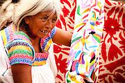 Selling Local Fabric in Cholula