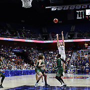 Breanna Stewart,  UConn, shoots for three during the UConn Huskies Vs USF  2016 American Athletic Conference Championships Final. Mohegan Sun Arena, Uncasville, Connecticut, USA. 7th March 2016. Photo Tim Clayton