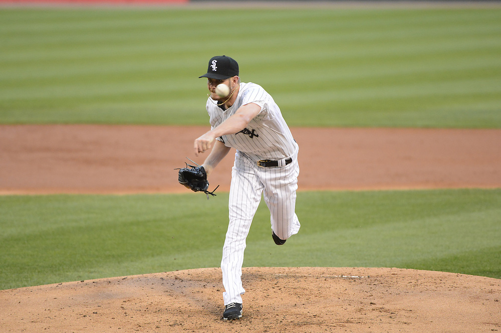 CHICAGO - MAY 22:  Chris Sale #49 of the Chicago White Sox pitches against the New York Yankees on May 22, 2014 at U.S. Cellular Field in Chicago, Illinois.  This was Sale's first game after coming off the disabled list and he had a perfect game into the sixth inning.  (Photo by Ron Vesely)  Subject:  Chris Sale
