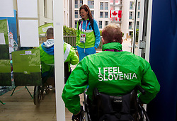 Katarina Tonin, Henrik Plank of Slovenia in Paralympic village during Day 2 of the Summer Paralympic Games London 2012 on August 29, 2012, in Pralympic village, London, Great Britain. (Photo by Vid Ponikvar / Sportida.com)
