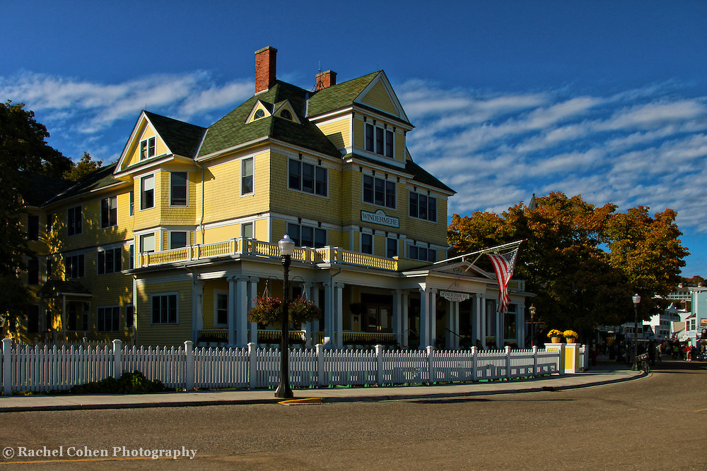 &quot;Windermere Hotel&quot;<br /> <br /> The lovely and scenic Windermere Hotel located on Michigan's Mackinac Island!!<br /> <br /> Architecture: Structures and buildings by Rachel Cohen
