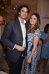 Lady Natasha Rufus Isaacs and her husband Rupert Finch at the launch of the Beulah Flagship store, 77 Elizabeth Street, London England. 16 May 2018.