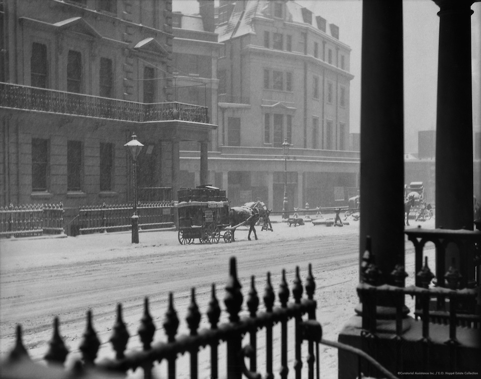 Winter in Cromwell Place, London, 1929