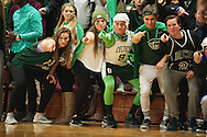 Rice fans poses for camera during the boys basketball game between the Burlington Seahorses and the Rice Green knights at Rice Memorial high School on Thursday night January 7, 2016 in South Burlington. (BRIAN JENKINS/for the FREE PRESS)