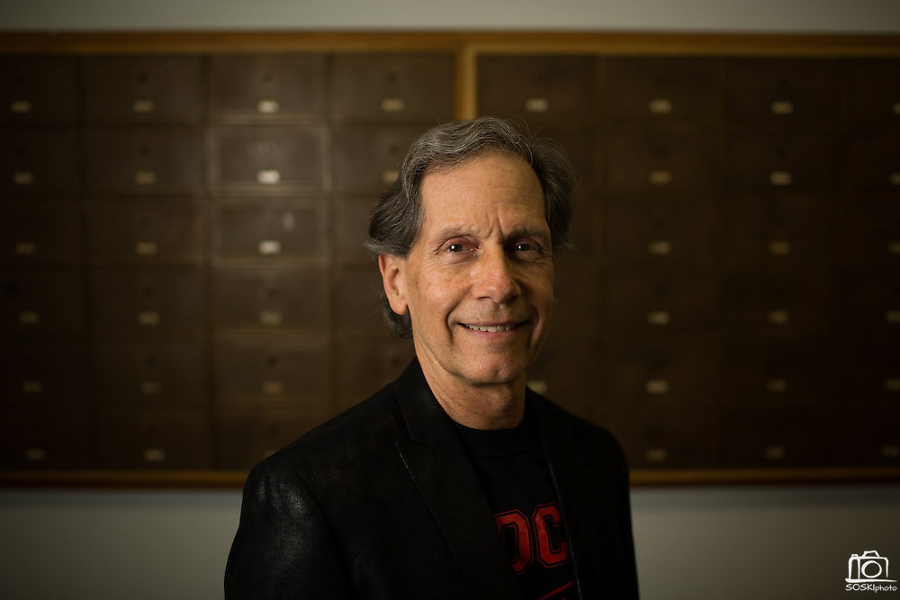 Edward Oates, cofounder of Oracle, poses for a portrait at San Jose State University's Hugh Gillis Hall in San Jose, California, on September 30, 2013. (Stan Olszewski/SOSKIphoto)
