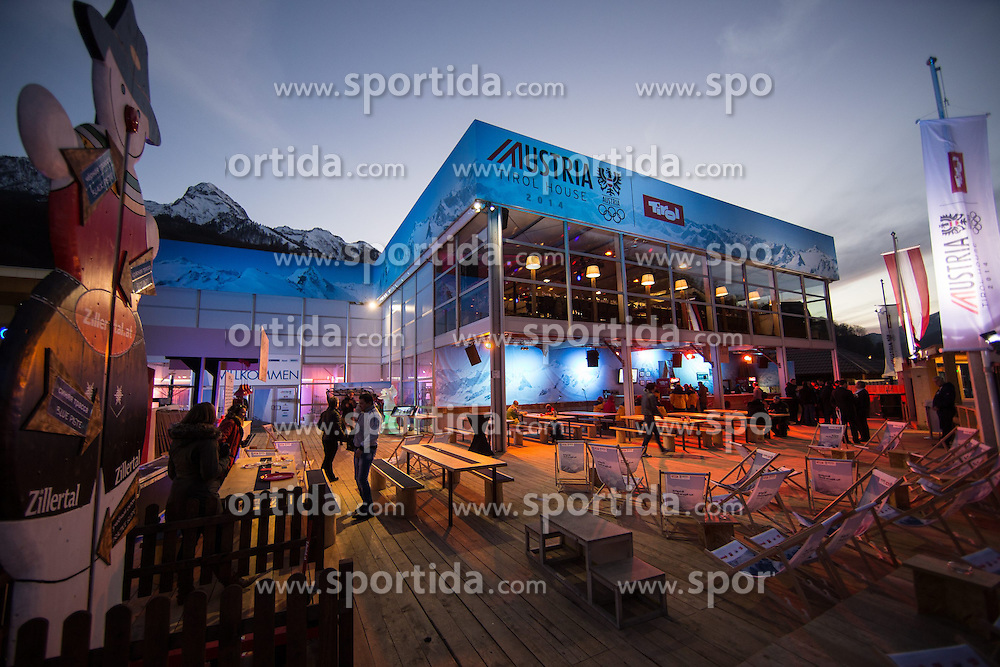 12.02.2014, Austria Tirol House, Sochi, RUS, Sochi 2014, Kärnten Abend, im Bild Übersicht Haus Tirol Austria // overview of House Tyrol Austria at the Carinthia evening in Austria house Tyrol at the Olympic Winter Games 'Sochi 2014' at the Austria Tirol House in Krasnaya Polyana, Russia on 2014/02/12. EXPA Pictures © 2014, PhotoCredit: EXPA/ Johann Groder