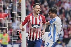 March 9, 2019 - Madrid, Madrid, Spain - Atletico de Madrid's Saul Niguez celebrates goal during La Liga match between Atletico de Madrid and CD Leganes at Wanda Metropolitano stadium in Madrid. (Credit Image: © Legan P. Mace/SOPA Images via ZUMA Wire)