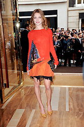 NATALIA VODIANOVA at a party to celebrate the opening of the Louis Vuitton Bond Street Maison, New Bond Street, London on 25th May 2010.