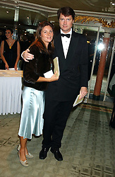 DR MARK & KATE CECIL at the Chain of Hope 10th Anniversary Ball held at The Dorchester, Park Lane, London on 1st November 2005.<br />