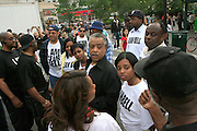 l to r; Nicole Paultre Bell, Rev. Al Sharpton, and Tamika Mallory at the Critical Mass and The National Action Network(NAN) join forces for The Critical Mass monthly civil disobedience ride to protest the Not Gulity verdict of NYPD shooting death of Sean Bell, and critically injuring Joseph Guzman and Trent Benefield at 14th Streeet Union Square on May 30, 2008 ..Critical Mass is an event typically held on the last Friday of every month in cities around the world where bicyclists and other self-propelled commuters take to the streets en masse. While the ride was originally founded with the idea of drawing attention to how unfriendly the city was to bicyclists,[1] the leaderless structure of Critical Mass makes it impossible to assign it any one specific goal. In fact, the purpose of Critical Mass is not formalized beyond the direct action of meeting at a set location and time and traveling as a group through city or town streets.