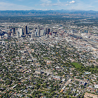 Downtown Denver Stock Aerial Photography Library