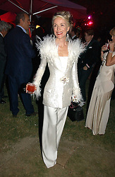 DAPHNE GUINNESS at the Serpentine Gallery Summer party sponsored by Yves Saint Laurent held at the Serpentine Gallery, Kensington Gardens, London W2 on 11th July 2006.<br />