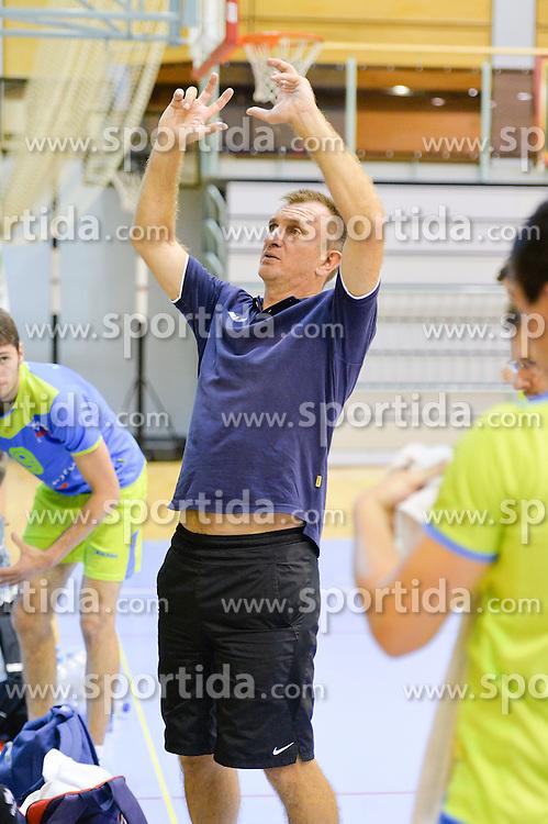 Iztok Ksela, head coach of U21 Nationalteam during the Friendly Volleyball match between OK Panvita Pomgrad and U21 Nationalteam of Slovenia on August 28, 2015 in Murska Sobota, Slovenia. Photo by Mario Horvat / Sportida