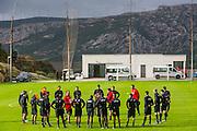 ESTEPONA - 04-01-2016, AZ in Spanje 4 januari, overzicht, AZ trainer John van den Brom, Leeroy Echteld.
