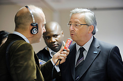 Jean-Claude Juncker, Luxembourg's prime minister, speaks to members of the press following the EU Summit, in Brussels, Friday, June 19, 2009. (Photo © Jock Fistick)