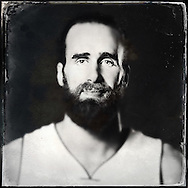 Sep 29, 2014; Auburn Hills, MI, USA;  (Editor's Note: Photo was post-processed creating a digital tintype) Detroit Pistons forward Luigi Datome (13) during media day at the Pistons practice facility. Mandatory Credit: Rick Osentoski-USA TODAY Sports