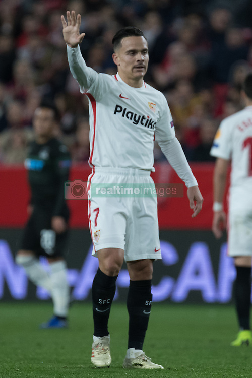 December 13, 2018 - Seville, Andalucia, Spain - Roque Mesa of Sevilla FC during the Europa League match between Sevilla FC and Krasnodar in Ramón Sánchez Pizjuán Stadium (Seville) (Credit Image: © Javier MontañO/Pacific Press via ZUMA Wire)