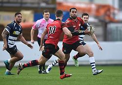 Sami Fisilau of Jersey - Mandatory by-line: Paul Knight/JMP - Mobile: 07966 386802 - 31/01/2016 -  RUGBY - Ashton Gate Stadium - Bristol, England -  Bristol Rugby v Jersey - Greene King IPA Championship