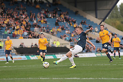 Southend United's Cauley Woodrow squanders a chance - Photo mandatory by-line: Nigel Pitts-Drake/JMP - Tel: Mobile: 07966 386802 05/10/2013 - SPORT - FOOTBALL - Kassam Stadium - Oxford - Oxford United v Southend United - Sky Bet League 2