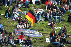 22.08.2014, Circuit de Spa, Francorchamps, BEL, FIA, Formel 1, Grand Prix von Belgien, Training, im Bild 2 Sebastian Vettel Fans mit Banner und Deutschland Flagge// during the Practice of Belgian Formula One Grand Prix at the Circuit de Spa in Francorchamps, Belgium on 2014/08/22. EXPA Pictures &copy; 2014, PhotoCredit: EXPA/ Eibner-Pressefoto/ Bermel<br /> <br /> *****ATTENTION - OUT of GER*****
