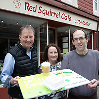 FREE TO USE PHOTOGRAPH ..08.05.18<br />Launching of The Crieff Card, pictured from left, Neil Combe Crieff Bid Manager, Ruth Williams Marketing & Communications Exec for Crieff Bid and Paul Attewell owner of the Red Squirrel cafe<br />for further info contact Alison Lowson at Volpa on 01738 700142 or a.lowson@volpa.co.uk<br />Picture by Graeme Hart. <br />Copyright Perthshire Picture Agency<br />Tel: 01738 623350  Mobile: 07990 594431