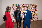 SARAH BRAKA; IVOR BRAKA; DANNY MOYNIHAN, Damien Hirst, Tate Modern: dinner. 2 April 2012.