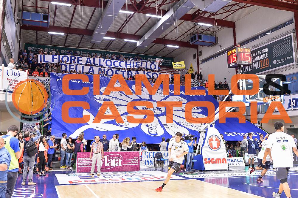 Coreografia<br /> Banco di Sardegna Dinamo Sassari - Dolomiti Energia Aquila Basket Trento<br /> Legabasket Serie A LBA Poste Mobile 2016/2017<br /> Playoff Quarti Gara3<br /> Sassari 16/05/2017<br /> Foto Ciamillo-Castoria