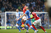Charlton Athletic midfielder Alou Diarra (12) during the Sky Bet Championship match between Brighton and Hove Albion and Charlton Athletic at the American Express Community Stadium, Brighton and Hove, England on 5 December 2015.
